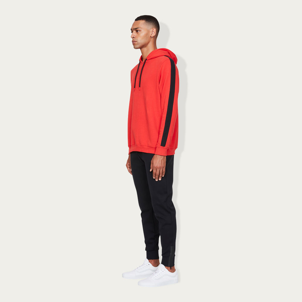 Red and Black Oversized Hoodie | Bombinate