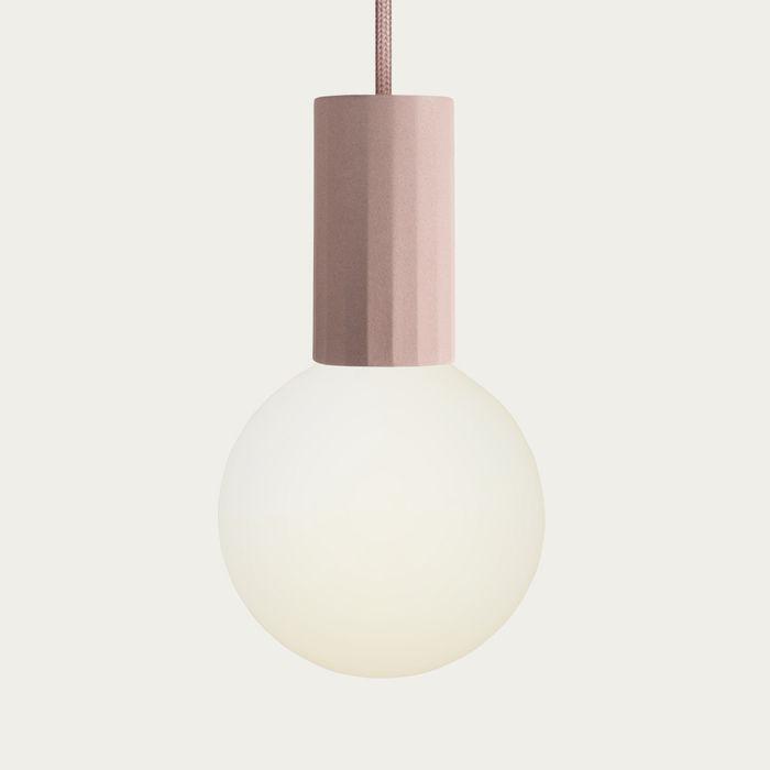 Blush Case Pendant Clear Bulb  | Bombinate