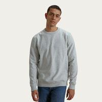 Pale Grey Recycled Cotton Classic Sweatshirt   Bombinate