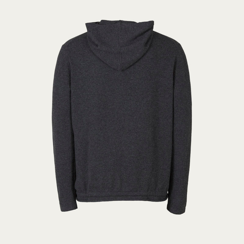 Charcoal Grey Cashmere Hoodie   | Bombinate