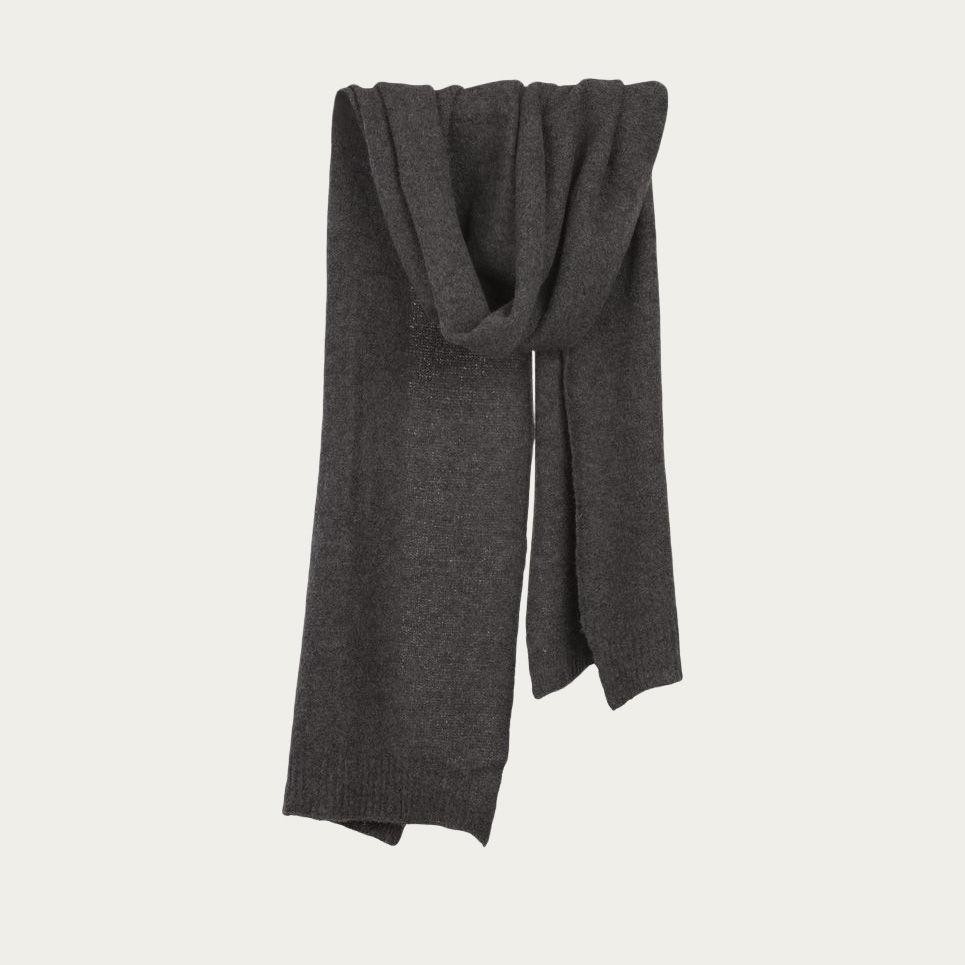 Charcoal Grey Men's Cashfelt knitted Scarf   0