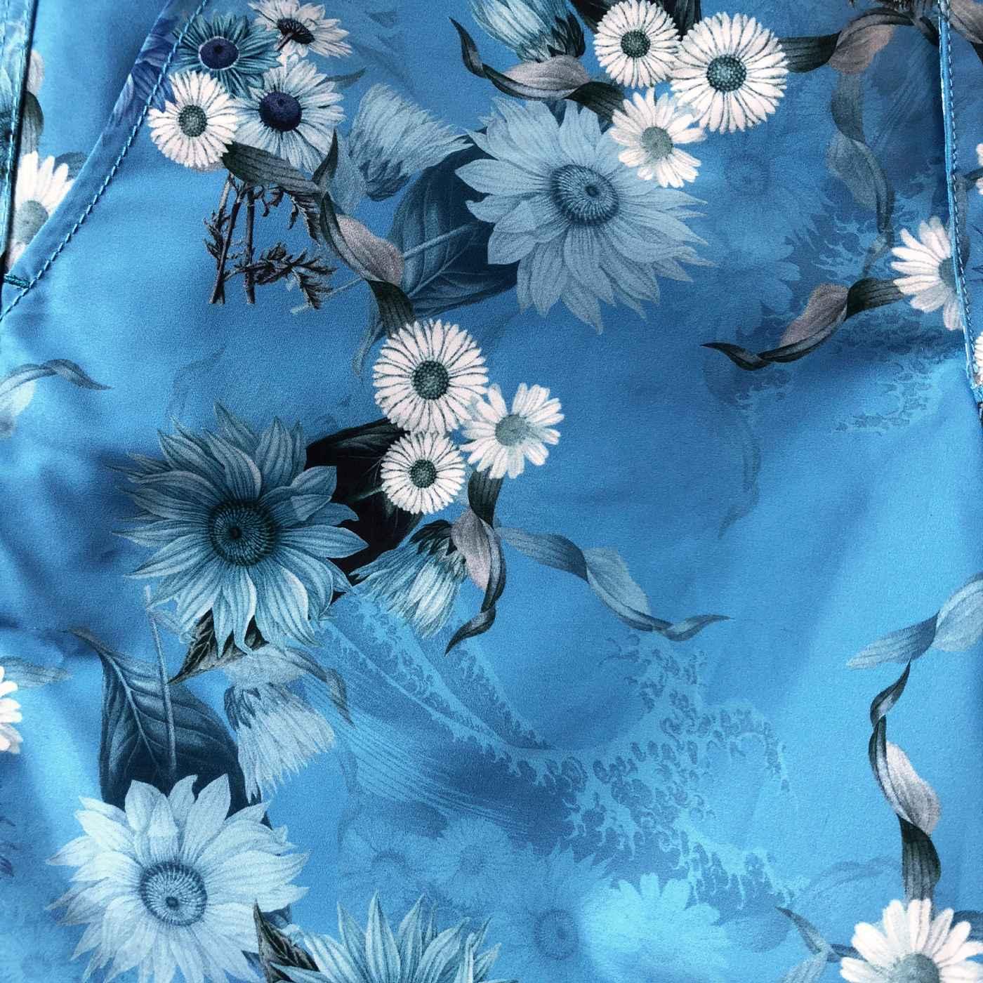 Wave Flower, Sky Braunton Short | Bombinate