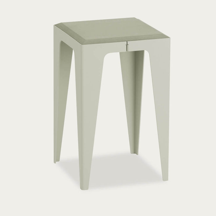 Silk Grey Chamfer Stool | Bombinate
