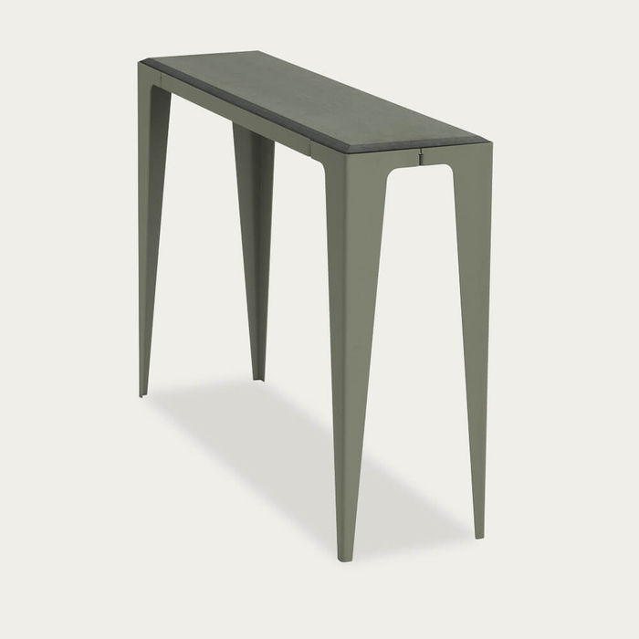 Lavender Leaf Green Chamfer Console | Bombinate