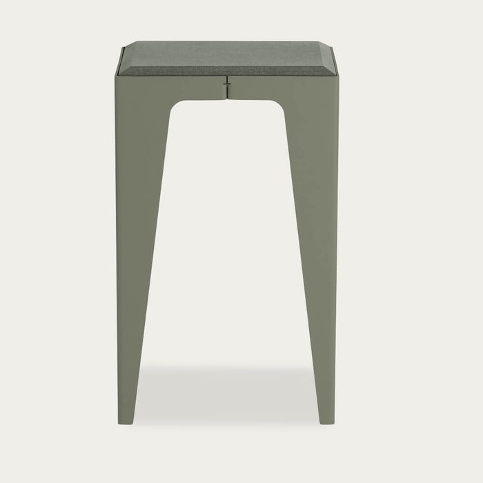 Lavender Leaf Green Chamfer Stool | Bombinate