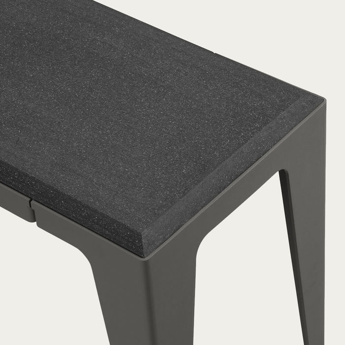 Slate Black Chamfer Bench | Bombinate