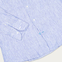 Blue Corsica Linen Shirt | Bombinate