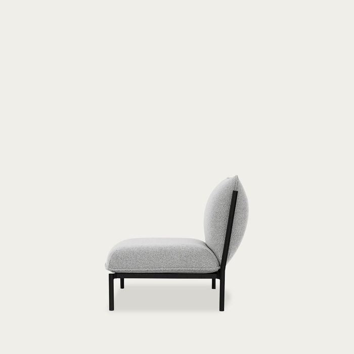 Porcelain Light Grey Kumo Modular Single-Seater by Anderssen & Voll | Bombinate