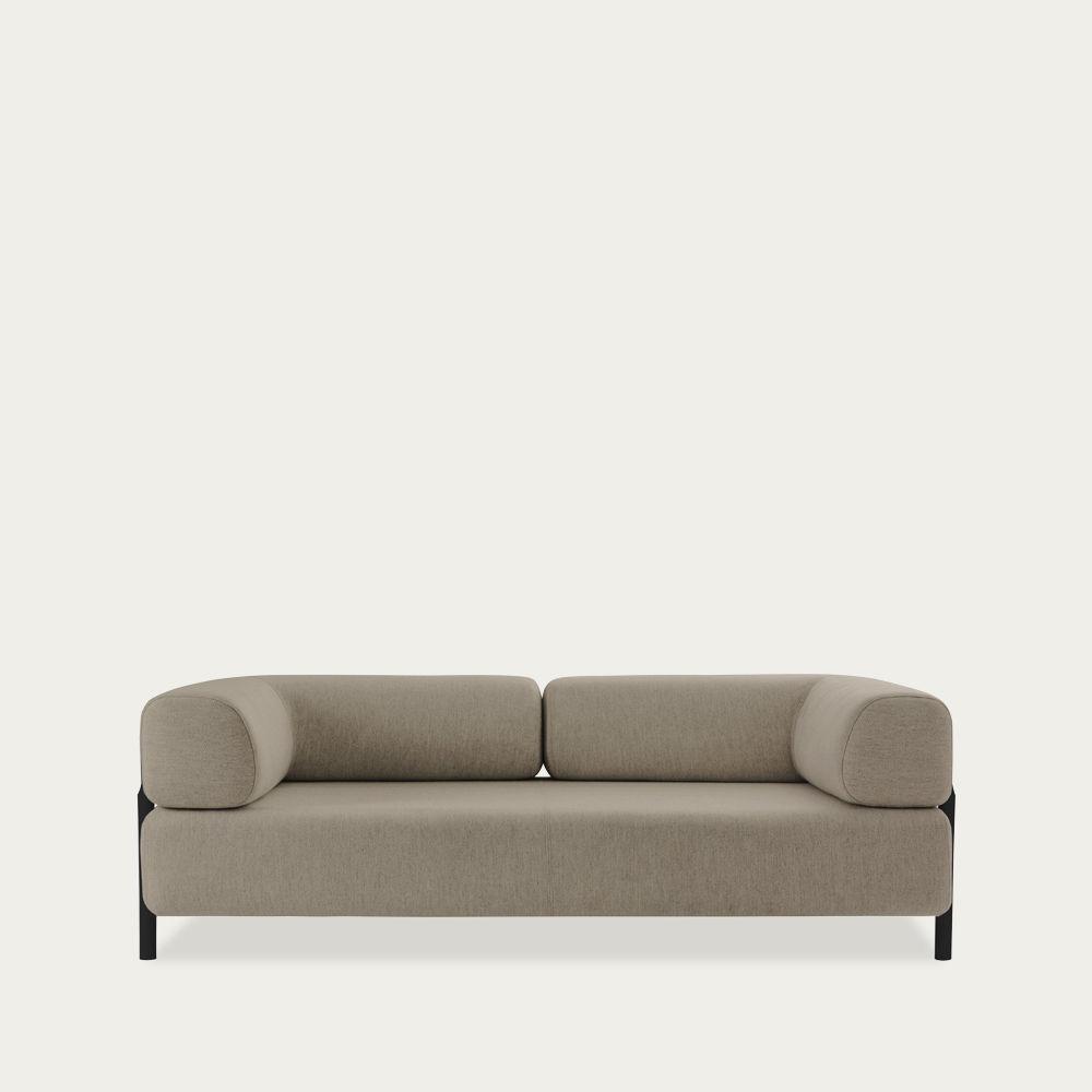 Beige Palo Modular 2-Seater Sofa + Armrest | Bombinate