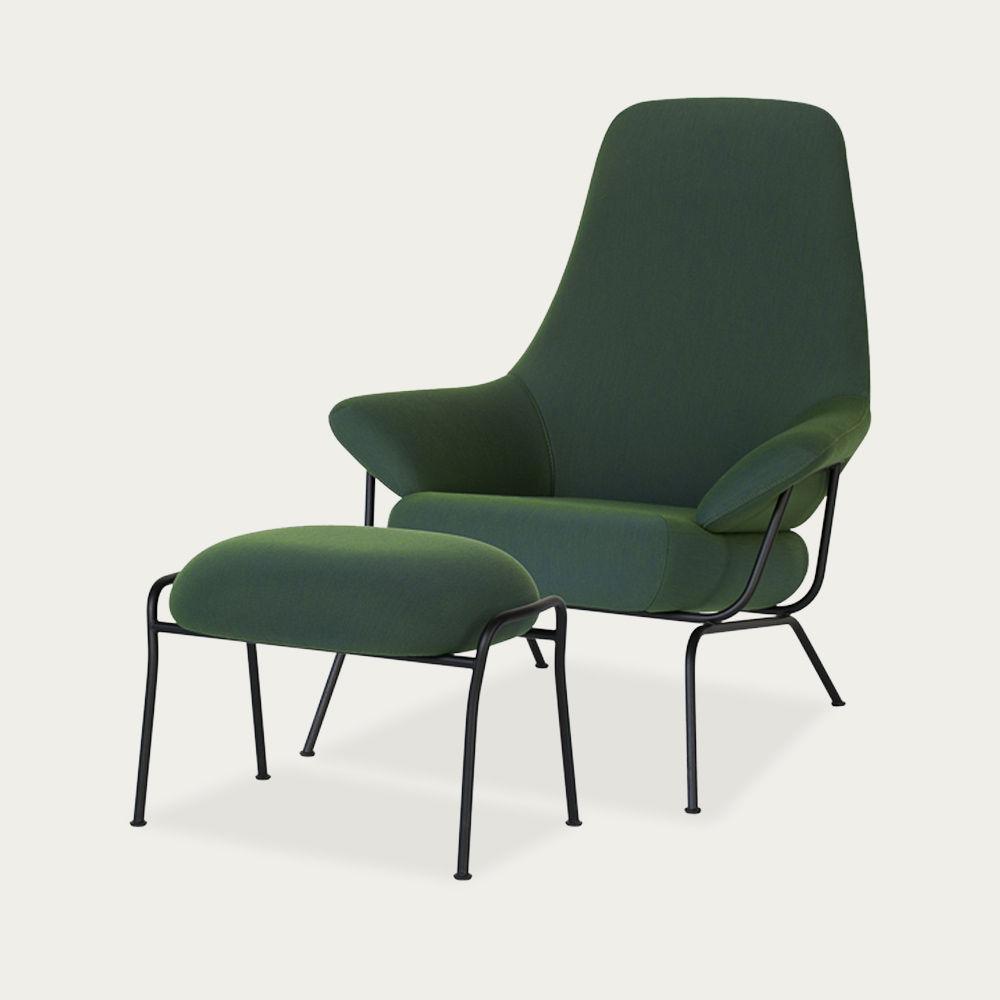 Green Hai Chair + Ottoman by Luca Nichetto | Bombinate