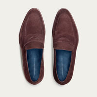 Brown Suede Penny Loafer | Bombinate