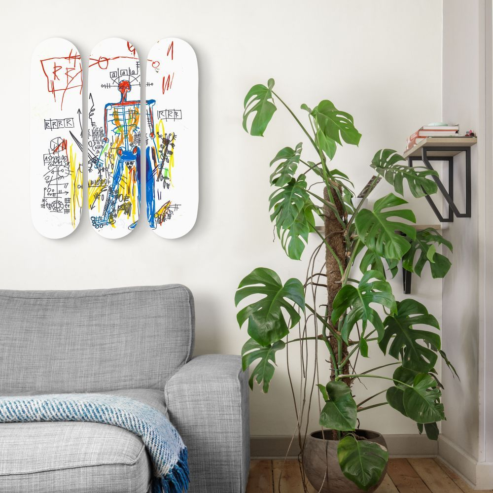 Robot set of 3 Basquiat  1