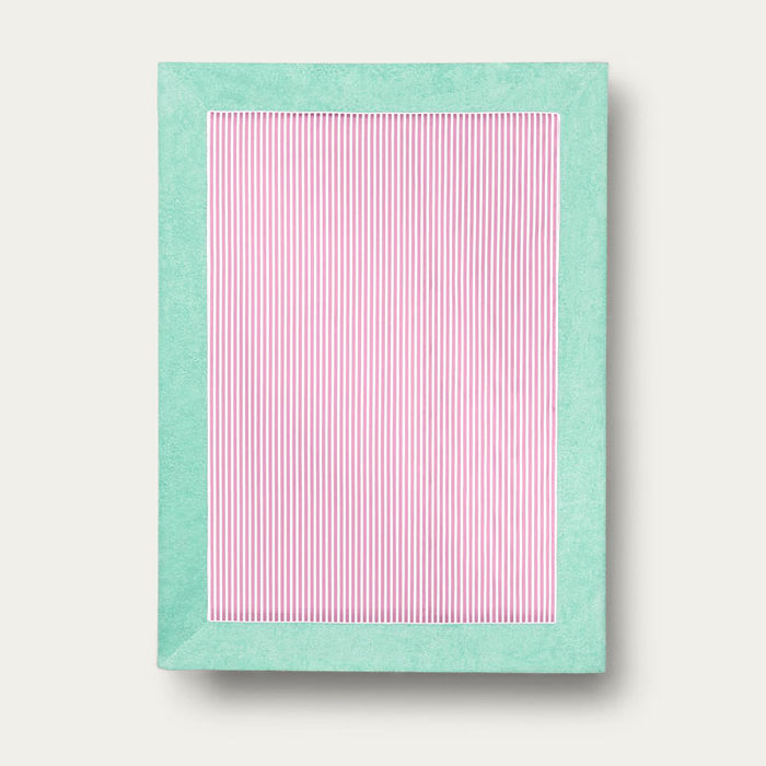 Aqua with Pink Stripes Grand Luxe Beach Towels | Bombinate