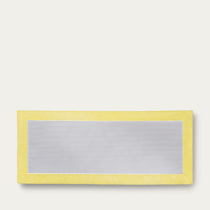 Citron with Grey Stripes Grand Luxe Beach Towels | Bombinate