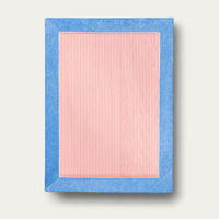 Cobalt Blue with Coral Stripes Grand Luxe Beach Towels | Bombinate