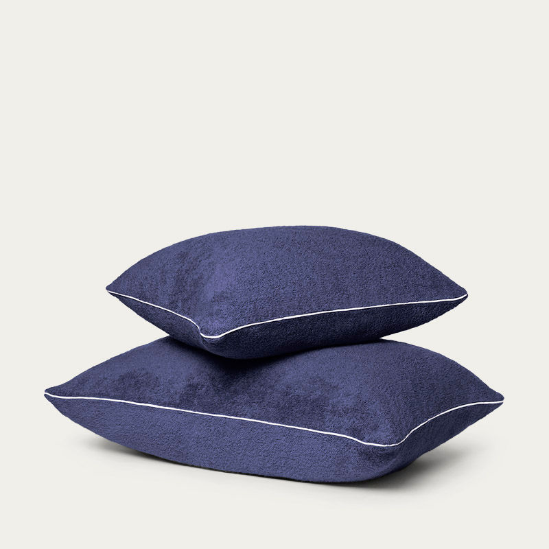 Navy Blue Beach Pillows | Bombinate