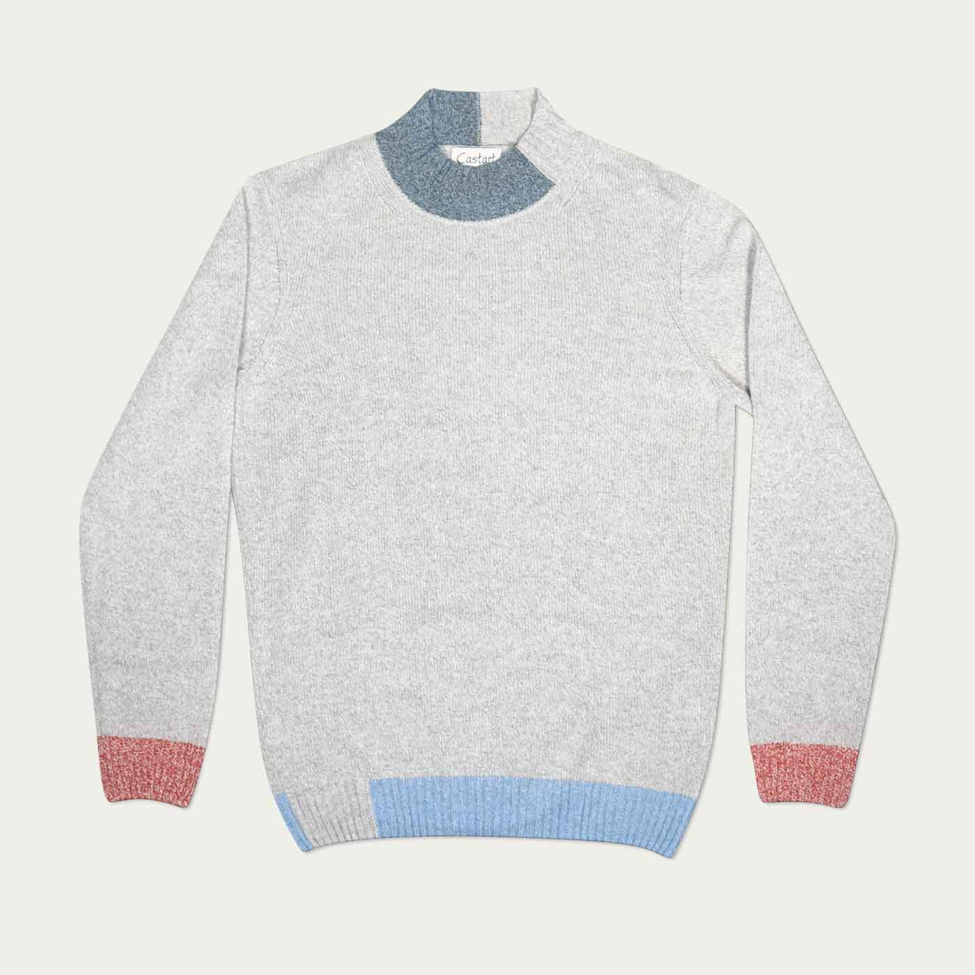Light Grey Fabio Knitwear  | Bombinate