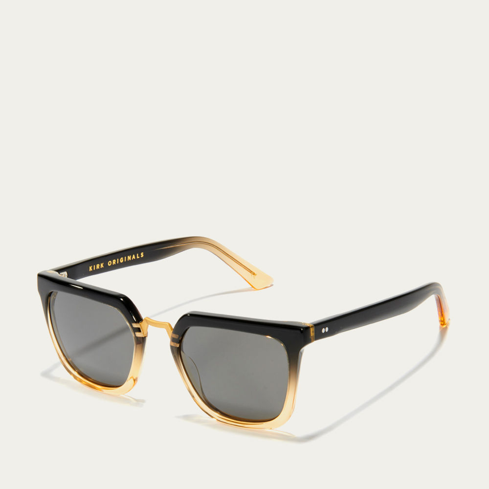 Black & Gold and Charcoal James Sunglasses | Bombinate
