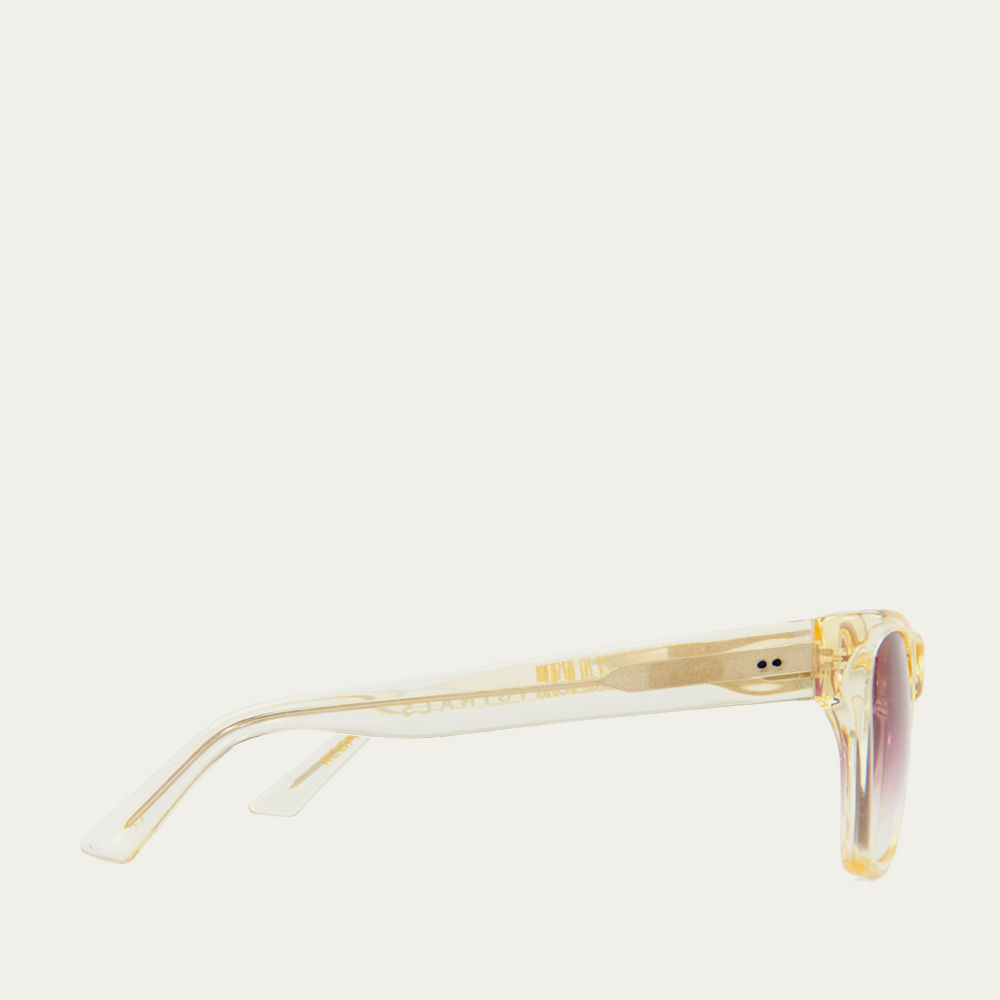 Clear Gold and Pink Fade Kirven Sunglasses  | Bombinate