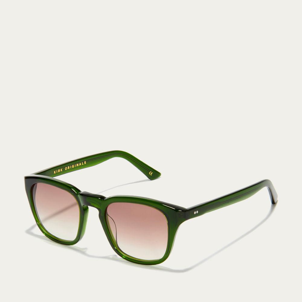 Dartmouth Green and Brown Fade Parker Sunglasses | Bombinate