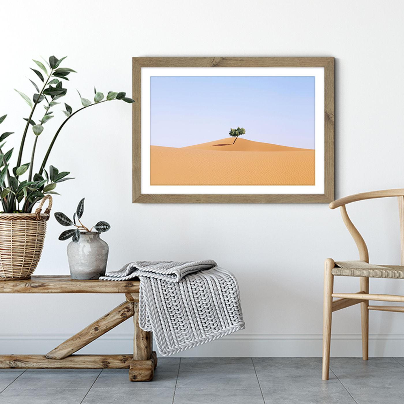Home Alone Art Print Oak Frame | Bombinate