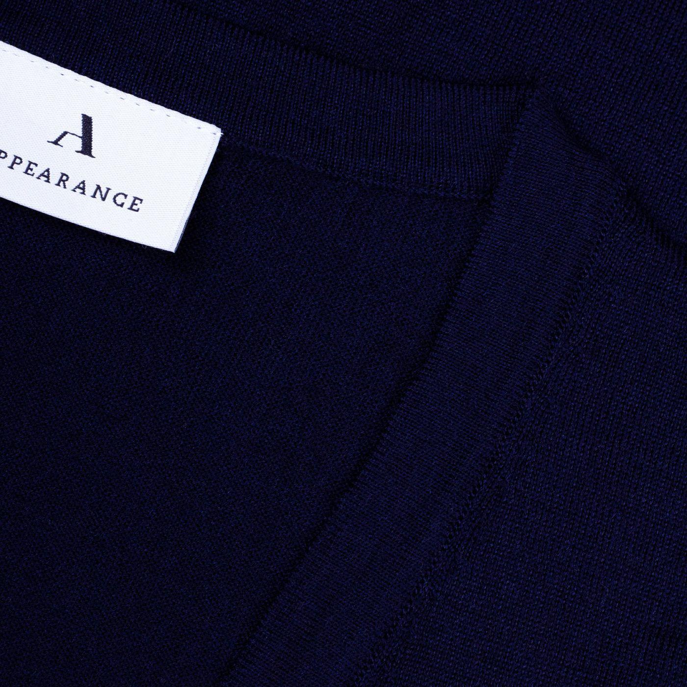 Dark Navy Merino Wool Slipover | Bombinate