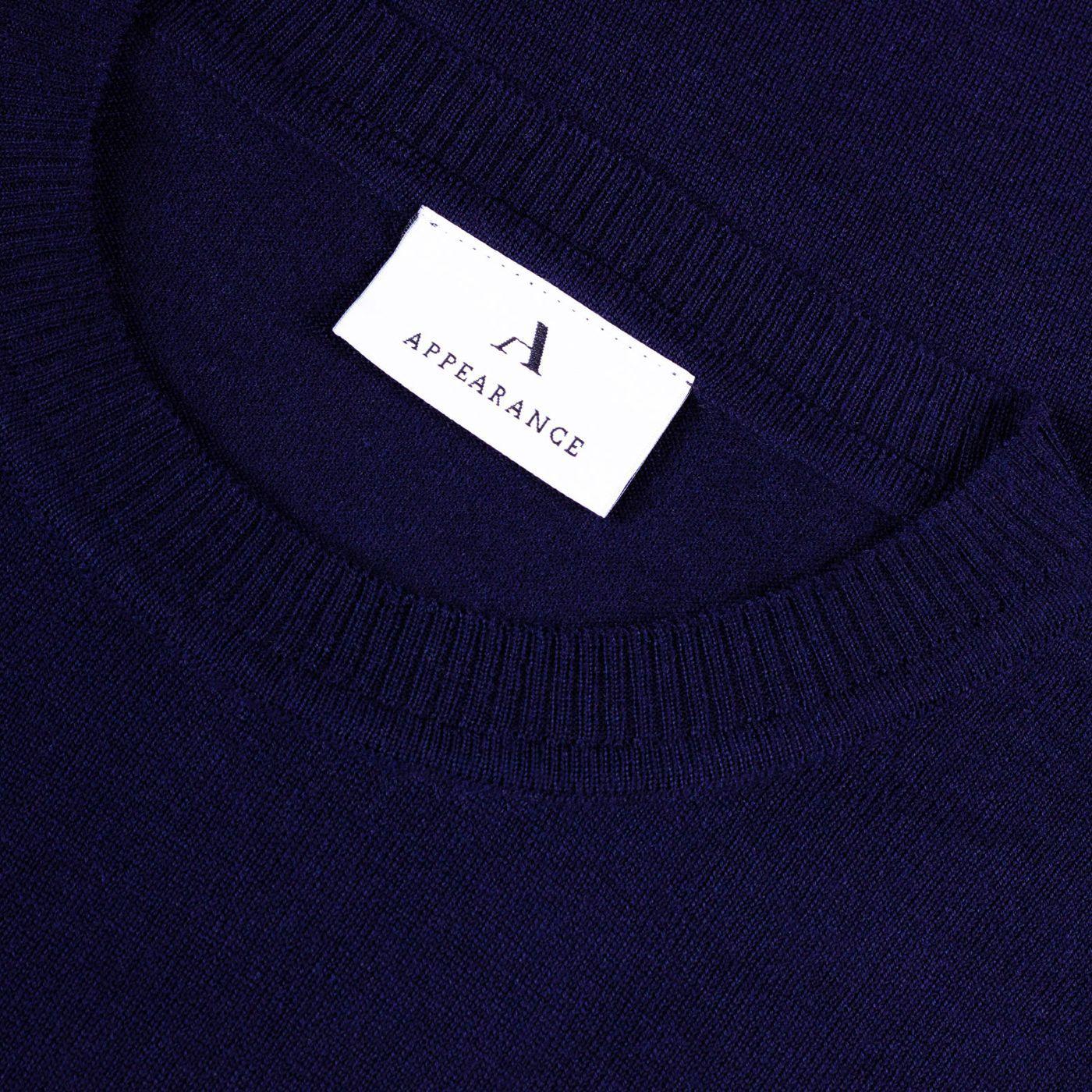 Dark Navy Merino Wool Pullover | Bombinate