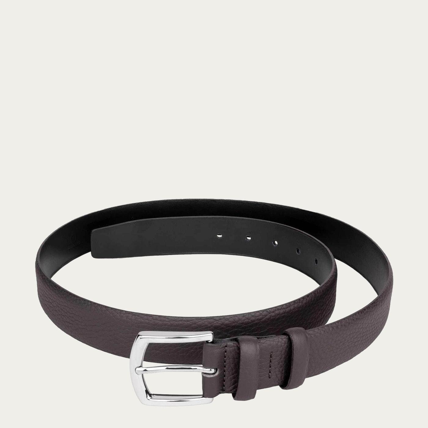 Dark Brown Olivier Handmade Leather Belt   Bombinate