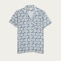 Epik Blue Linen Selleck S/S Shirt  | Bombinate