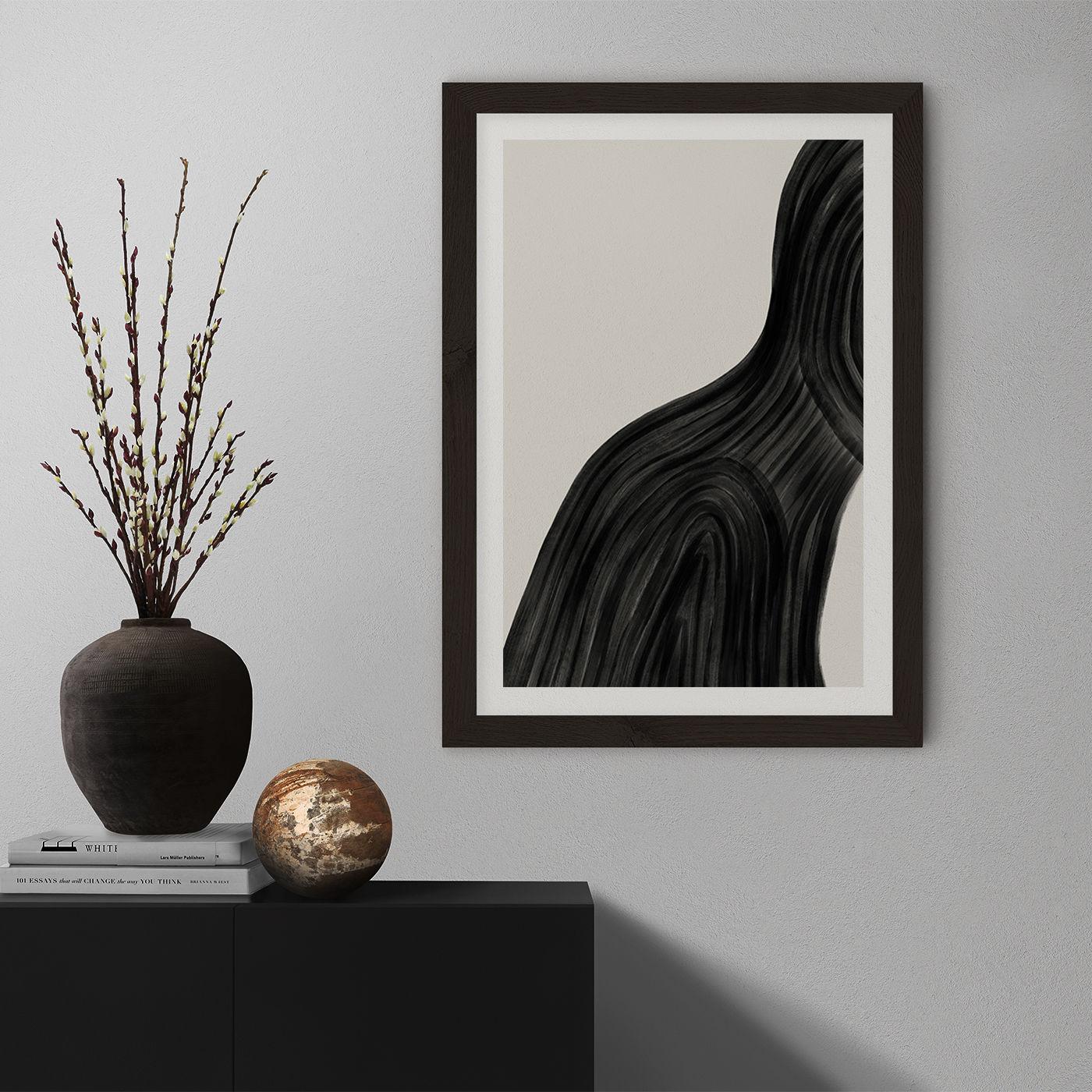When You Left Art Print Black Frame | Bombinate