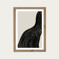 When You Left Art Print Oak Frame   Bombinate