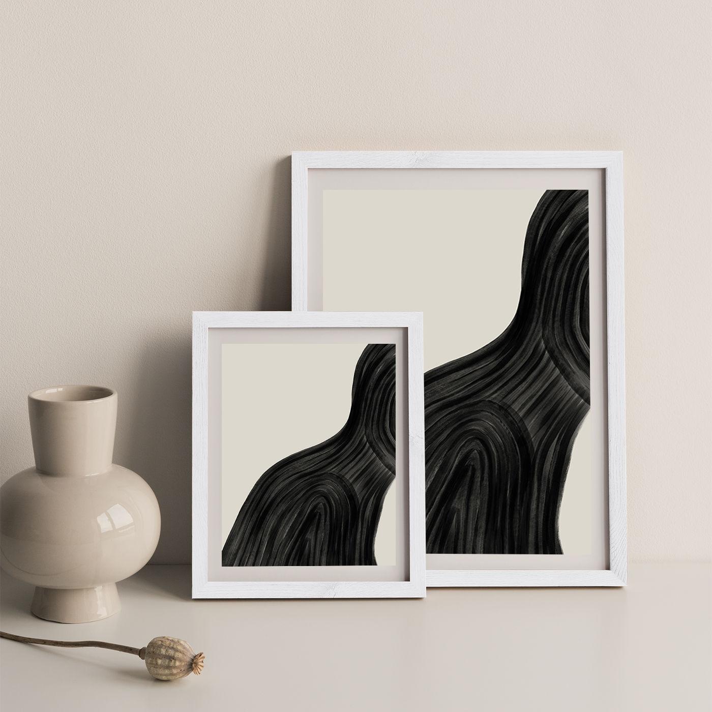 When You Left Art Print White Frame   Bombinate