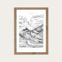 Oak Frame Col Du Glandon Art Print | Bombinate