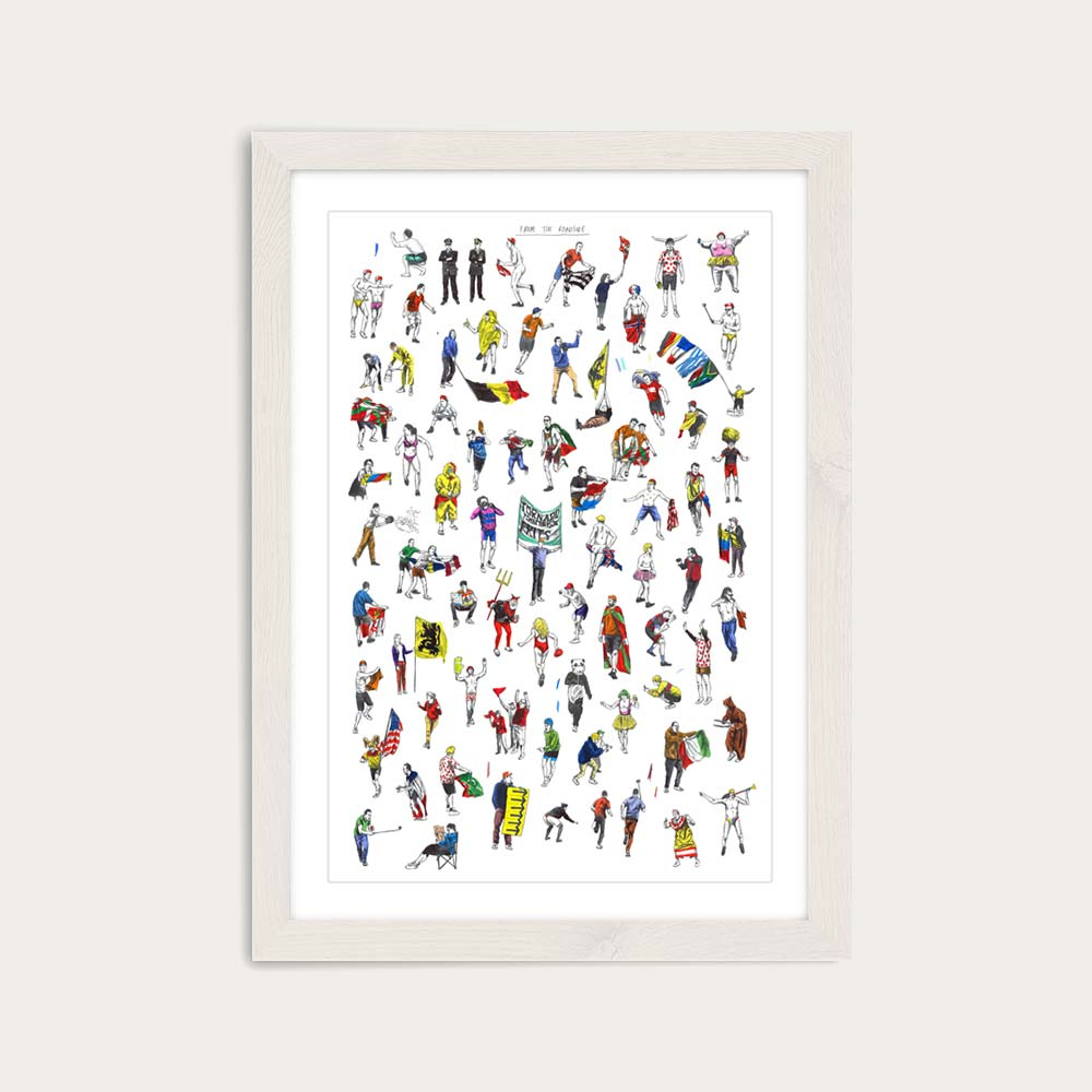 White Frame From The Roadside Art Print | Bombinate