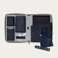 Sapphire Blue & Pale Grey The World Class Leather Tech Set | Bombinate