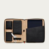 Jet & Soft Sand The World Class Leather Tech Case | Bombinate