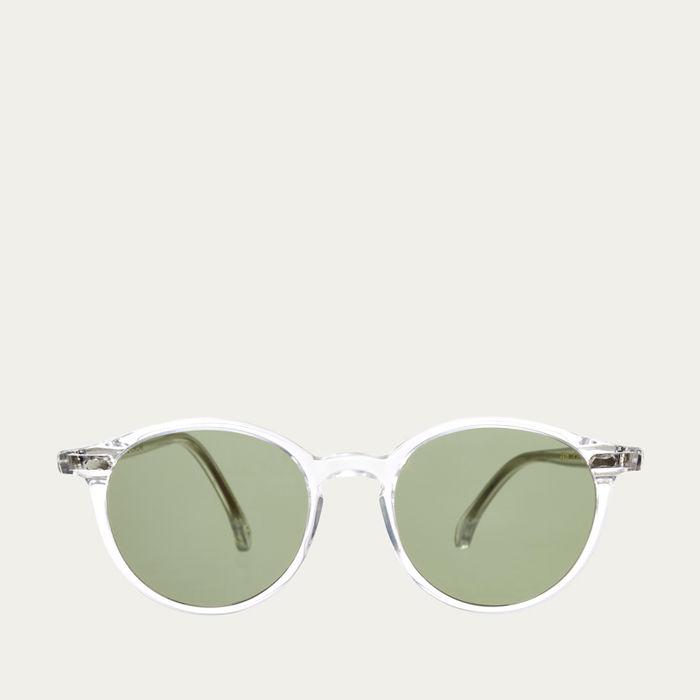 Transparent / Bottle Green Cran Sunglasses   Bombinate