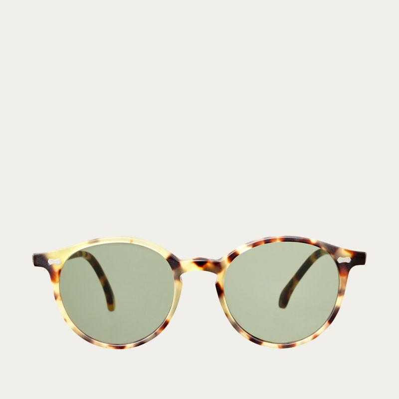 Matte Light Tortoise / Bottle Green Cran Sunglasses | Bombinate