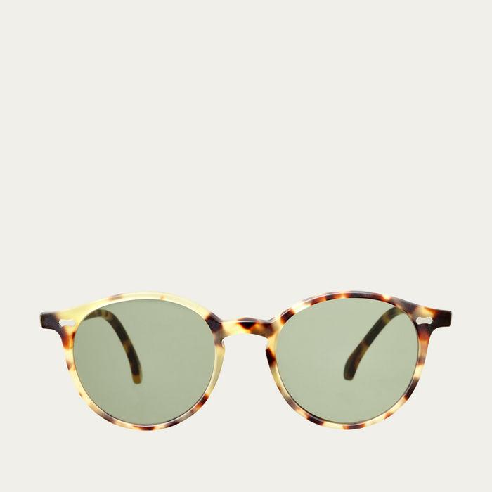 Matte Light Tortoise / Bottle Green Cran Sunglasses   Bombinate