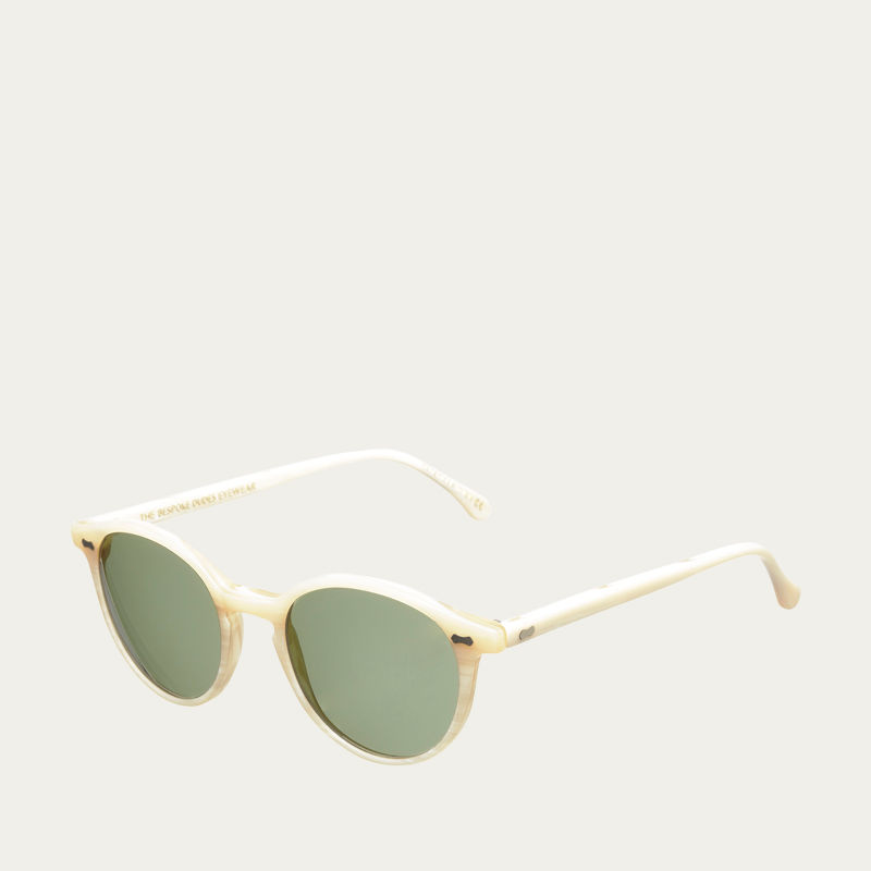 Ivory / Bottle Green Cran Sunglasses | Bombinate