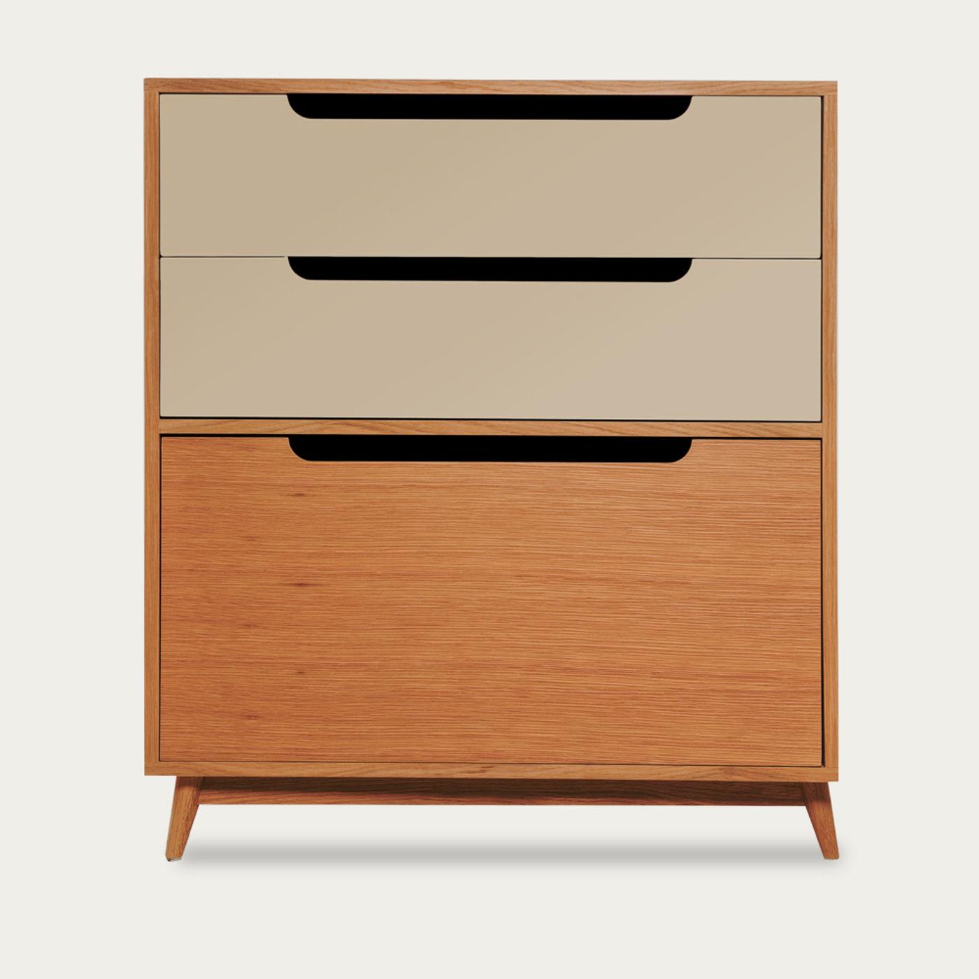 Beige Small Moka Wood Dresser - Honey Oak | Bombinate