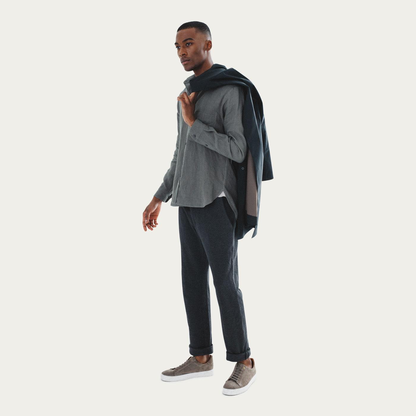 Khaki Mana Linen Shirt | Bombinate