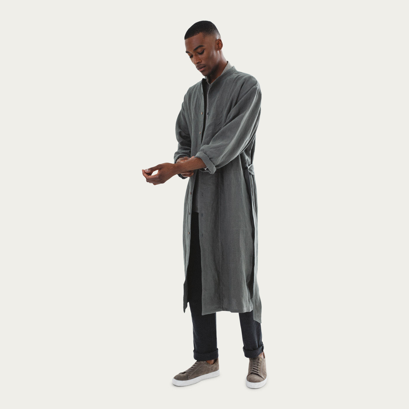 Khaki Heavy Brandolino Kimono | Bombinate