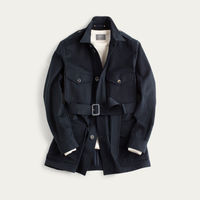 The Navy Belted Safari Jacket  | Bombinate