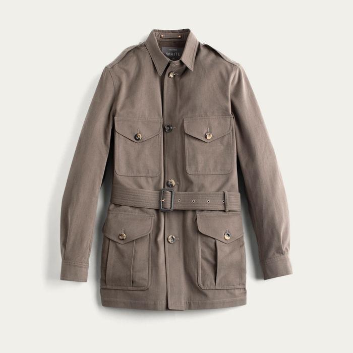 The Mocha Belted Safari Jacket  | Bombinate