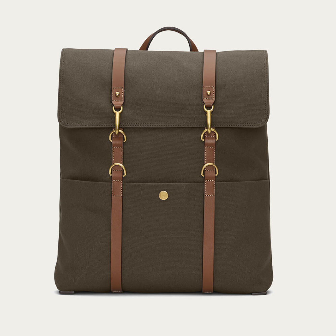 Army/Cuoio M/S Backpack   Bombinate