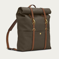 Army/Cuoio M/S Backpack | Bombinate
