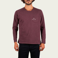 Burgundy Fade Out Essential Long Sleeve Tee-shirt | Bombinate