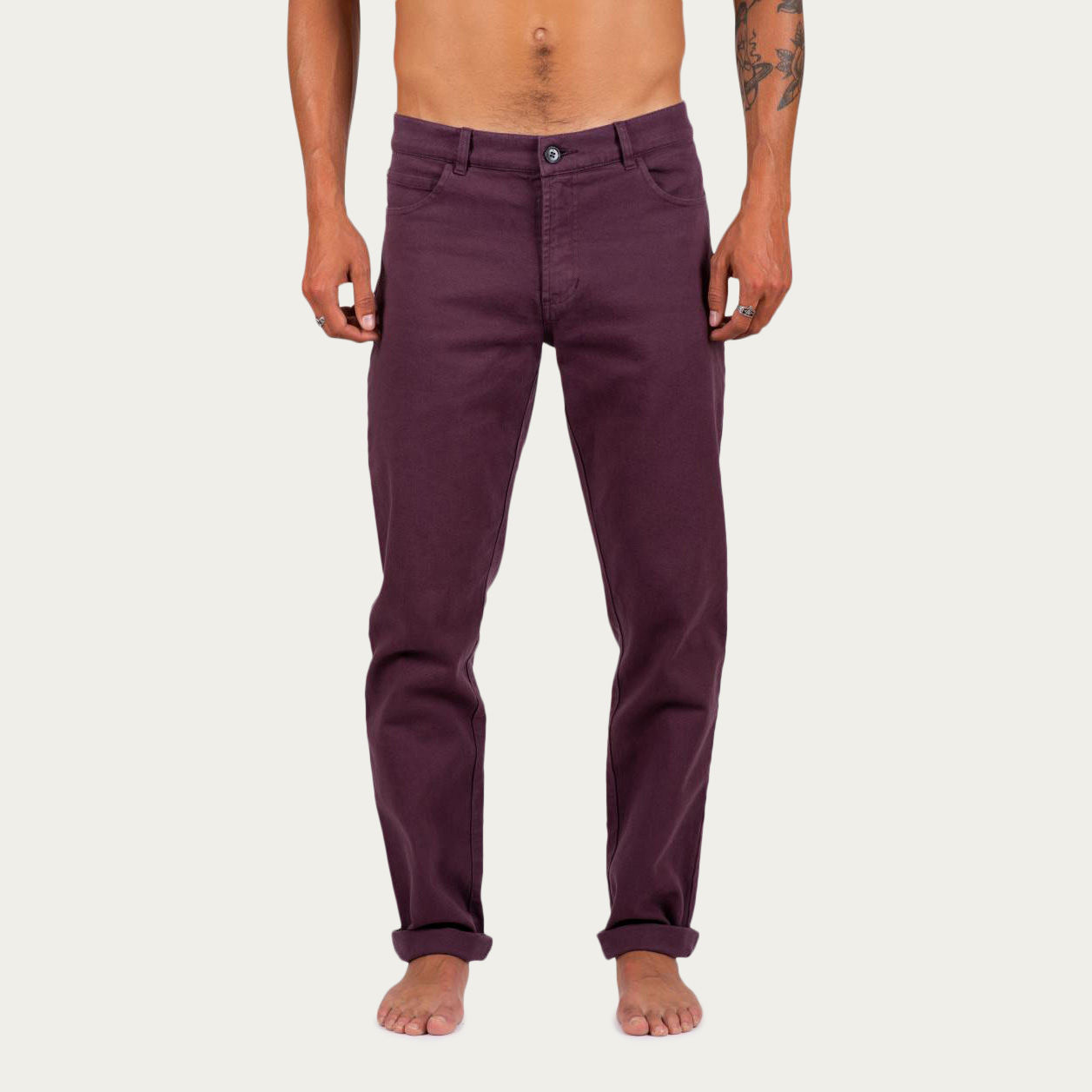 Burgundy Denim +351 Pant | Bombinate