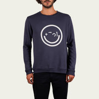 Smiley Blue Fade Out and Cru Sweatshirt | Bombinate